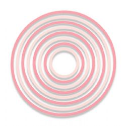 662543 Sizzix Thinlits Die Set 8PK - Concentric Circles by Pete Hughes